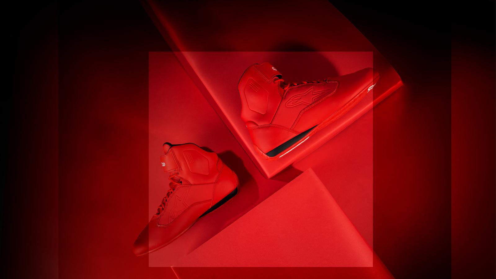 buty alpinestar czerwone